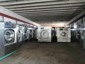 洗衣房�D�二手100公斤洗��C 二手布草折�B�C�C平�C